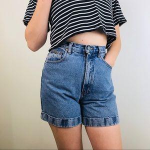 Calvin Klein Vintage Medium Wash Jean Shorts